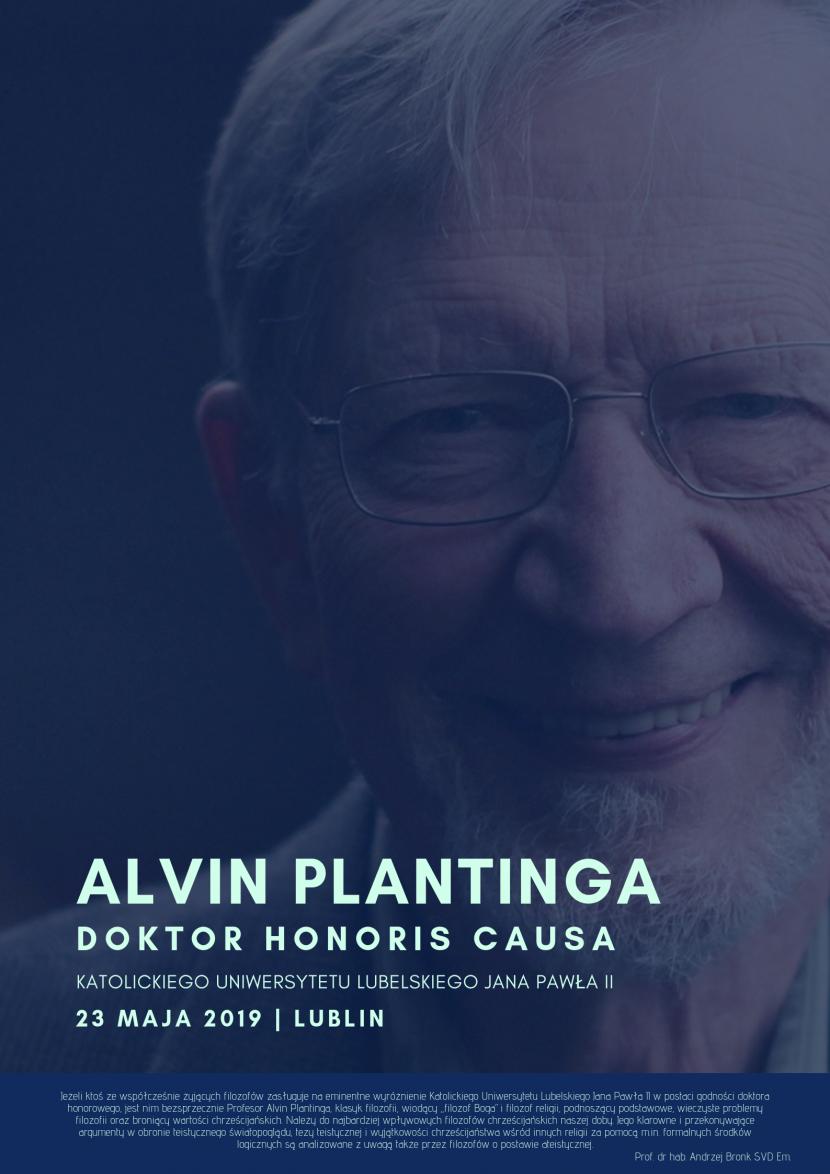 Alvin Plantinga doktorem honoris causa KUL