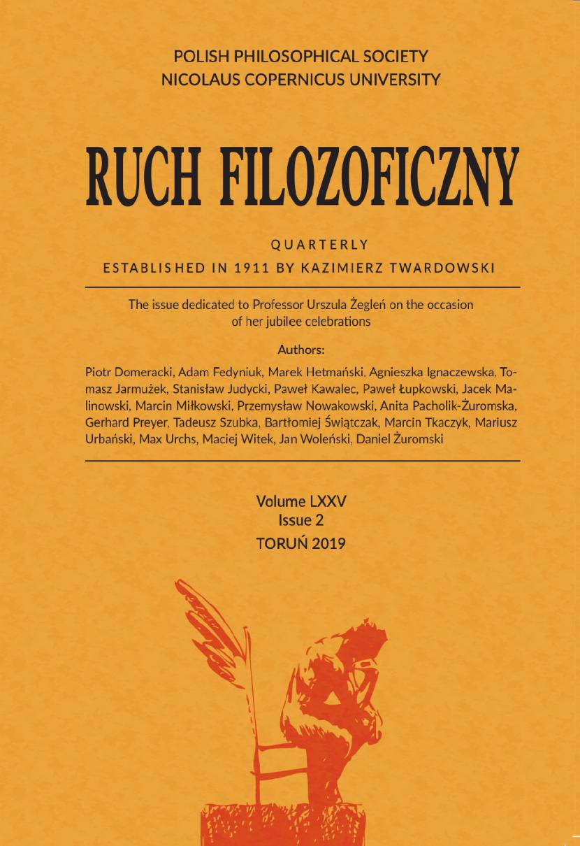 """Zapraszamy do publikacji artykułów naukowych powstałych w oparciu o wystąpienia wygłoszone podczas XI Zjazdu Filozoficznego w kwartalniku """"Ruch Filozoficzny""""."""